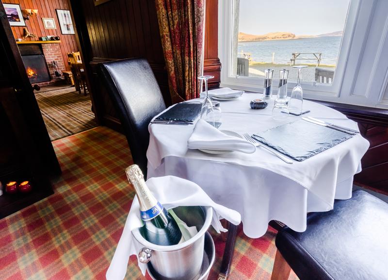 Sconser Lodge dining room loch view